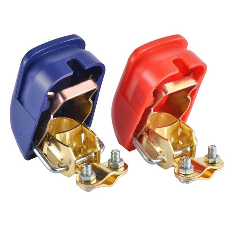 Novo 2 pces terminais de bateria de carro conector interruptor grampos liberação rápida elevador fora positivo & negativo acessórios de automóvel carro-estilo