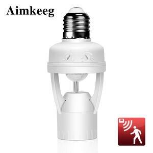 Aimkeeg E27-Lamp-Holder E27 Socket Motion-Sensor Infrared Induction 360-Degrees IR Human