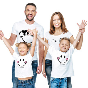 Image 2 - family matching clothes Mother daughter dresses outfits cotton casual T shirts family Look cotton mother father son clothing