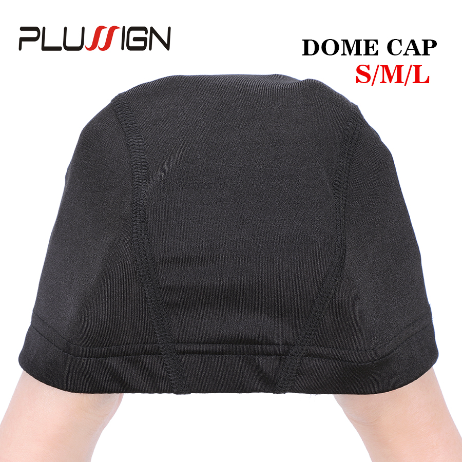 Image 4 - Plussign 12 Pcs/Lot Wholesale Spandex Dome Cap For Wig Making Elastic Mesh Hairnets Weaving Cap Average Size Strech Snood NylonHairnets   -