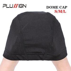 Image 4 - Plussign 12 יח\חבילה סיטונאי סטרץ כיפת עבור פאה ביצוע אלסטי רשת רשתות שיער אריגת כובע ממוצע גודל Strech סנוד ניילון