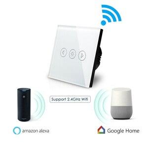 Image 2 - EU Mờ WIFI Điều Khiển Công Tắc Cảm Ứng Wallpad âm Tường Kính Pha Lê Bảng Điều Khiển Nhà Thông Minh Alexa Google Home IOS Android