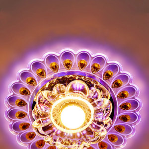 Image 4 - Lights Ceiling Lamp Circular  Lamp Decor Lamp Pendant Lamp Chandelier Peacock Crystal Light LED Modern for Living Room Aisle