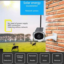 1080P Night Vision Record Video Outdoor Waterproof Surveillance Camera WIFI Solar Powered Wireless Easy Install Aluminum Alloy(China)