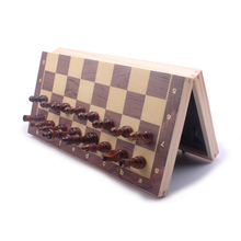 Chess Set Wooden magnitc  Large Chess Board High Quality Chess Set Pefect Gitf for Children 39CM high quality chess magnetic mini portable plastic chess set board games for friends children s