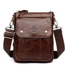 Men Genuine Leather Handbag Shoulder Messenger Bag Crossbody Bag 2019 New Fashion Bags For Men Flap Zipper Hasp KSK