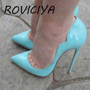 Fashion Women Pumps Womens Shoes High Heels 12 cm Stilettos Pumps Shoes For Women Sexy Party Wedding Shoes QP042 ROVICIYA
