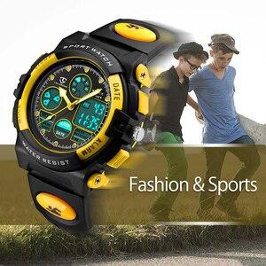 Image 5 - LAVAREDO 어린이 스포츠 시계 패션 LED 쿼츠 다기능 디지털 시계 어린이 50M 방수 손목 시계 A5