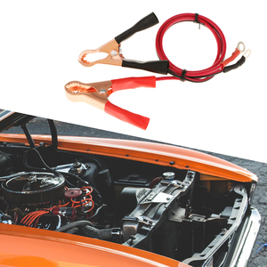Image 5 - 1 쌍 50A 자동차 배터리 클립 및 케이블 악어 자동차 밴 배터리 테스트 리드 클립 악어 클립 전기 점퍼 와이어 케이블 클램프