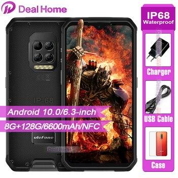 Купить Ulefone Power 9 прочный телефон Термальность изображений Камера 6600 мА/ч, 64MP Камера Android 10 Helio P90 Восьмиядерный 8GB + 128GB смартфон