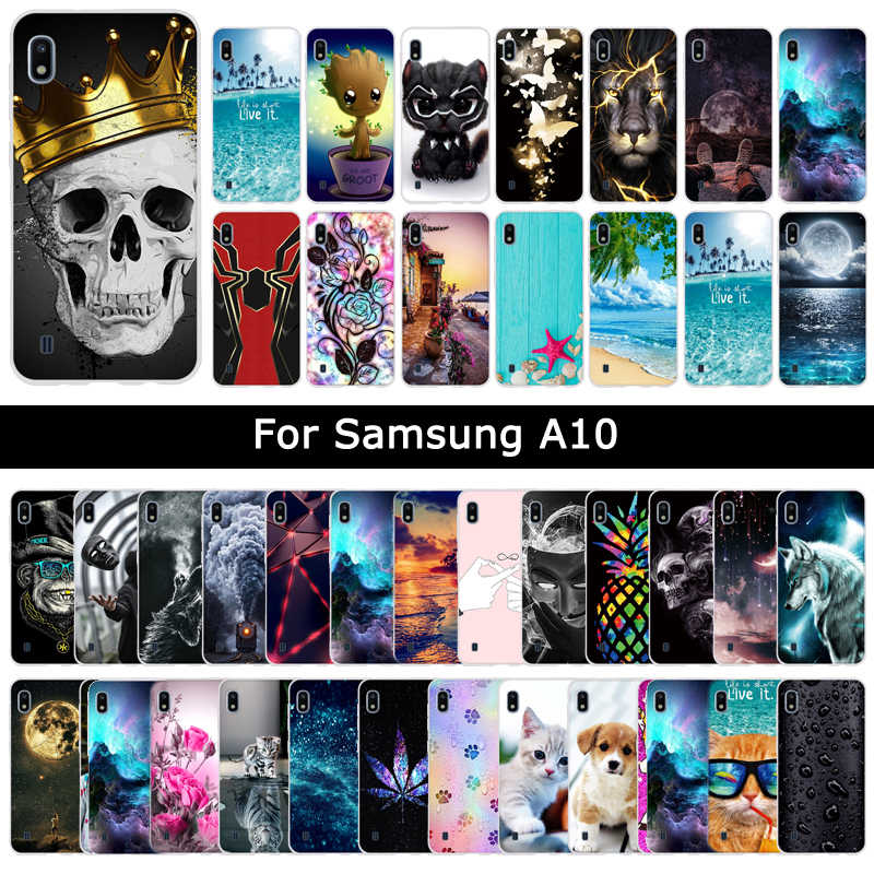 Luxury Case For Samsung Galaxy A10 A 10 Soft Silicone TPU Cartoon Cute Patterned Protective Cover Phone Shell Cases Fundas Coque
