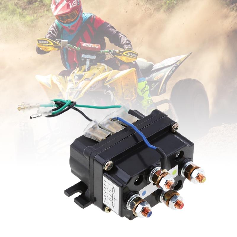 Universal 12 v solenóide relé contator guincho rocker switch polegar 500a 95001bs-17000lbs para atv/utv 4wd 4x4 guinchos 80*7.5*40.5mm