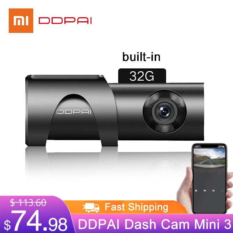 Xiaomi ddpai traço cam mini 3 1600p hd câmera do carro 32gb 2k android escondido 24h monitor de estacionamento da movimentação automática vídeo do veículo recroder