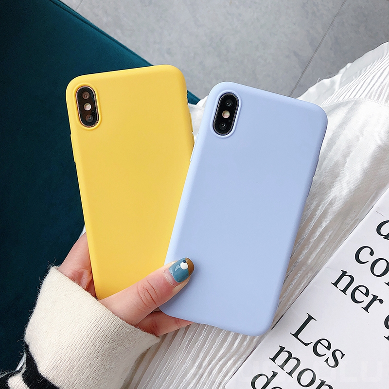 For <font><b>Samsung</b></font> Galaxy S10 S10e S9 S8 Plus S7 Edge Note 10 A50 <font><b>A70</b></font> A30 A20 A20e A40 A10 A80 A6 A7 A8 2018 Silicone Candy Case Cover image