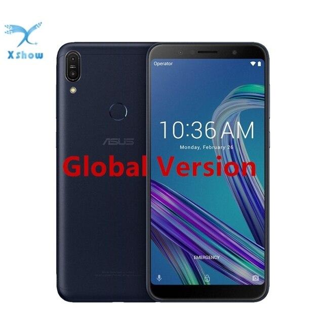 ASUS ZenFone Max Pro M1 ZB602KL küresel sürüm 3GB RAM 32GB ROM 6.0 inç Snapdragon 636 Android 8.1 16MP yüz kimliği akıllı telefon