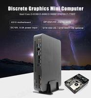 Gaming Computer Intel i5 9400F 6 Cores 6 Threads i7 8700 i3 9100F Nvidia GTX 1050 4GB Mini PC 2*DDR4 2*HD2.0 1*DP 1*DVI WiFi