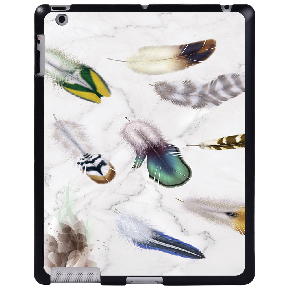 fishtail feather Orange For Apple iPad 8 10 2 2020 8th 8 Generation A2428 A2429 tablet PC Plastic Printed