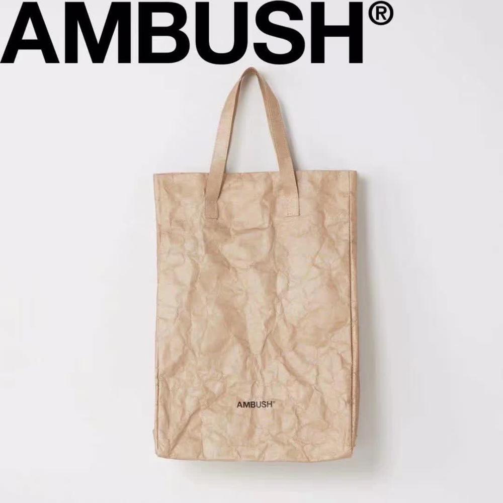 42x30x18cm Ambush Shopping  PAPER Bags 2020 New Best Quality 1:1 Ambush Bag Men Women Tag Logo Japan Fashion