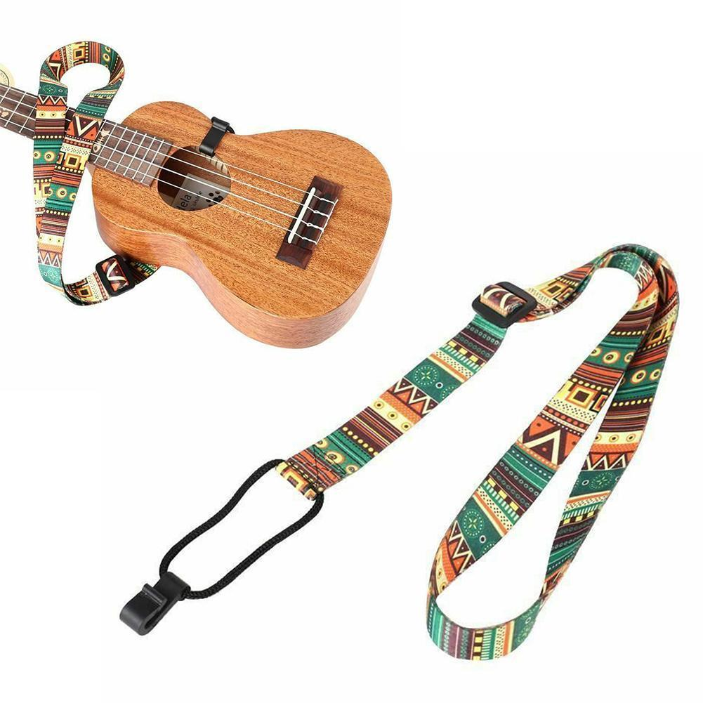 Adjustable Guitar Accessories Ukulele Guitar Strap Belt Transfer Thermal Ribbon Durable Instrument Ethnic Guitar For Musica Z1G0