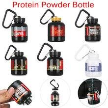 100/200ml mini garrafa portátil do pó da proteína com chaveiro funil saúde publicidade garrafa pequena copo de água ao ar livre esportes ferramenta