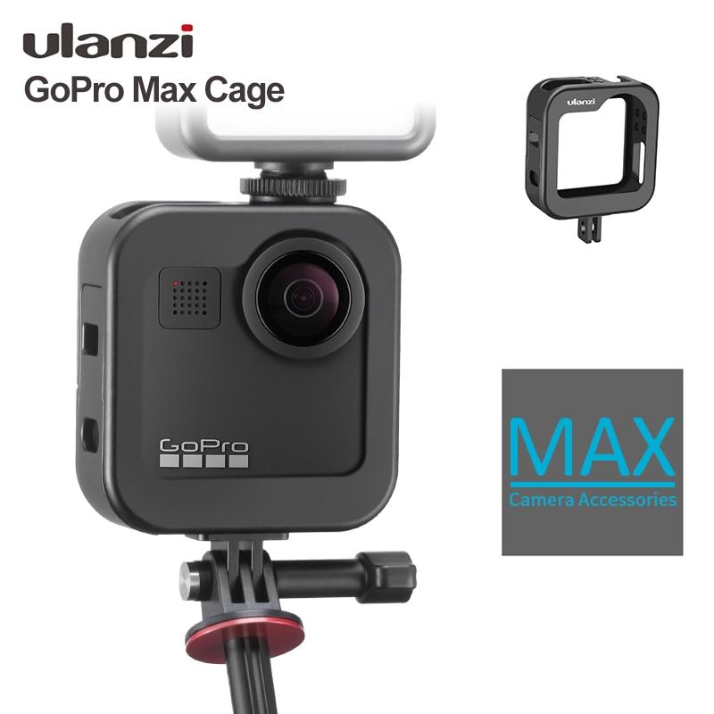Ulanzi GM-3 Gopro Max Metal Cage Cold Shoe Vlog 1:1 GoPro Max Cage Case Frame