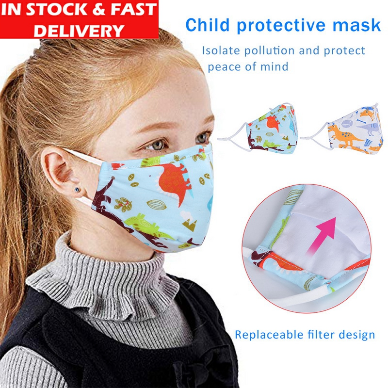 IN STOCK 3/5pcs PM2.5 Kids Face Mask Disposable Anti-Bacteria Dust Face Mask Child Anti Exhaust Sun Block Graphic Nonwoven Mask