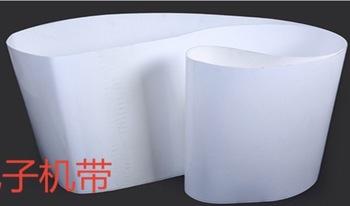 (Dostosowany przenośnik taśmowy) obwód 2000-3200mm szerokość 50mm grubość 1mm biały przenośnik taśmowy z PVC tanie i dobre opinie CN (pochodzenie) Standardowy Płaski pas