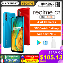 Realme 64GB 3GB LTE/GSM/WCDMA NFC Adaptive Fast Charge Bluetooth 5.0 Octa Core Fingerprint Recognition