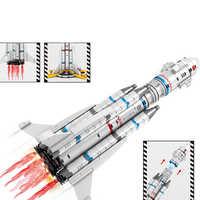 Ideen Serie Wandern erde Die Apollo Saturn Starten Fahrzeug Luftfahrt Rakete Kinder Junge Bausteine Ziegel Sets LEGOINGS