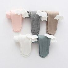 Leggings Bottom-Foot-Pants Newborn-Baby Girls Cotton Autumn Spring Strumphose