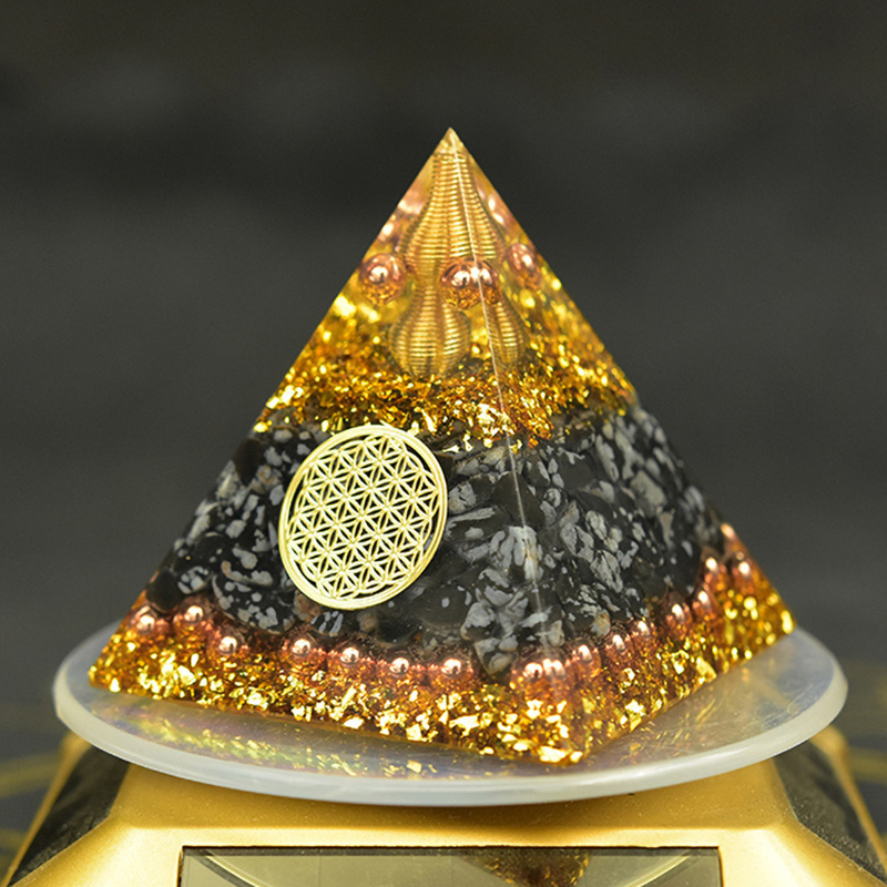 Reiki Orgonite Energy Orgon Pyramid Gathering Fortune Helping Soothe The Soul Chakra Resin Decorative Craft Jewelry Cube