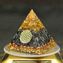 Reiki orgonita energía orgón pirámide recolección fortuna ayuda a aliviar el alma Chakra resina decorativa artesanía joyería cubo