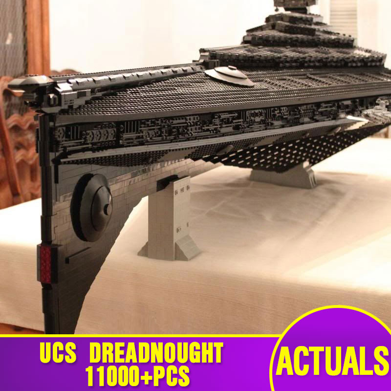 Star Toys Wars Building Blocks Compatible With Legoing UCS Dreadnought Star Destroyer Assembly Model Kits Kids Christmas Gifts