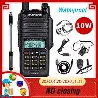 Powerful 10W Baofeng UV 9R plus Waterproof Walkie Talkie Portable CB Ham Radio 10KM long range Dual Band hf transceiver Transmit