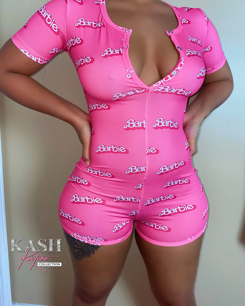 NEW 2020 Sexy Women Onesies Pajamas Bodysuit Long Sleeve Deep V Neck Bodycon Stretch Leotard Top Button Short Playsuit Sleepwear