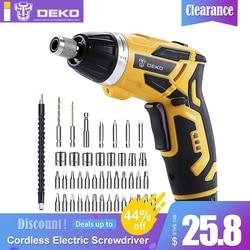 Deko gcd3.6dkb sem fio chave de fenda elétrica do agregado familiar lítio-íon broca recarregável/driver ferramentas de arma elétrica luz led bmc