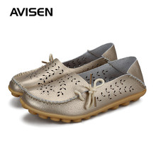 Fashion Women Shoes 2019 Summer Female Leather Flats Slip On Shoes Pure Color Woman Breathable Casual Zapatos De Mujer 219 стоимость