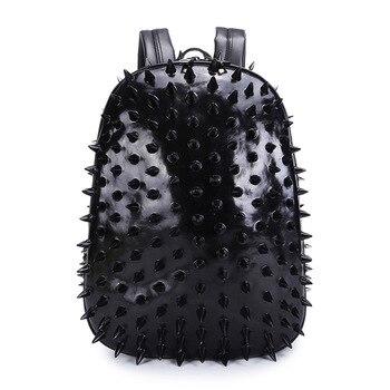 Personality Men and Women PU Backpack Large Capacity Backpack Student Computer Bag Shoulder Cross Body 3d Hedgehog Bag