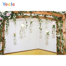 Yeele Merry Christmas Flower Stand Photography Backgrounds Wedding Baby Birthday Party Photographic Backdrop For Photo Studio