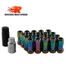 20 Uds Racing Modificación de coche tuerca de neumático M12x1.5 tuercas de rueda para Honda, Toyota, Mitsubishi, Hyundai, Mazda, Kia,Subaru,Suzuk