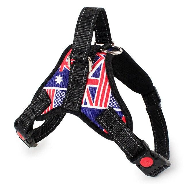 125/5000 Adjustable Nylon Dog Harness Reflective Dog Collar Personalized Dog Harness and Leash Set Small Medium Large Dog Harne 6