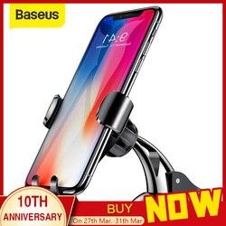 Baseus ユニバーサル重力自動車電話ホルダー吸盤吸引カップフロントガラスカーホルダー iphone 11 xs サムスンの携帯電話ホルダースタンド