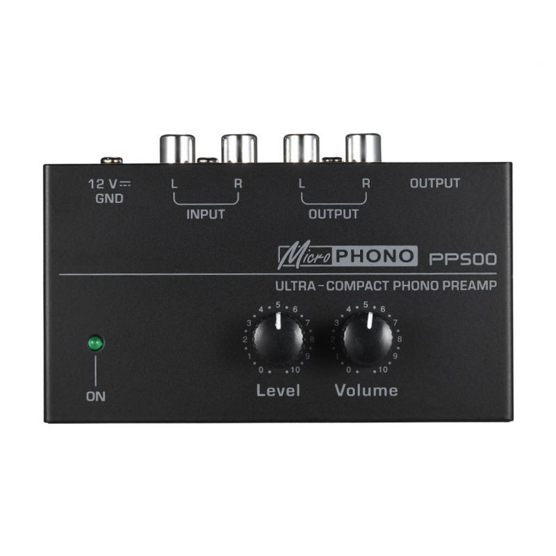 """Image 4 - PP500 Phono Preamp Preamplifier with Level Volume Controls RCA Input Output 1/4"""" TRS Output Interfaces for LP Vinyl TurntableAmplifier   -"""