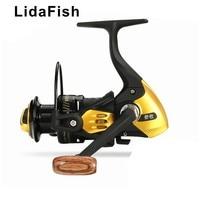 LidaFish 브랜드 13kg 강력한 제동력 13BB 왼쪽/오른쪽 교환 가능 모든 금속 방적 휠 낚시 릴