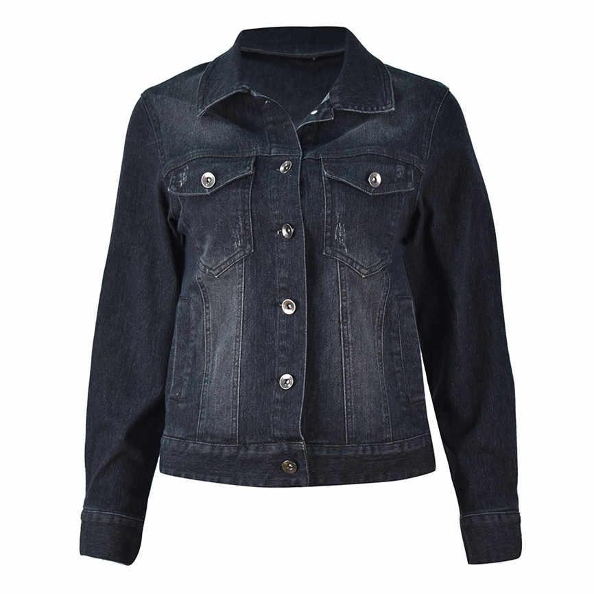 Верхняя одежда, короткая куртка-бомбер, Женская Повседневная модная джинсовая куртка, длинное джинсовое пальто, верхняя одежда с бусинами, пальто из джинсовой ткани