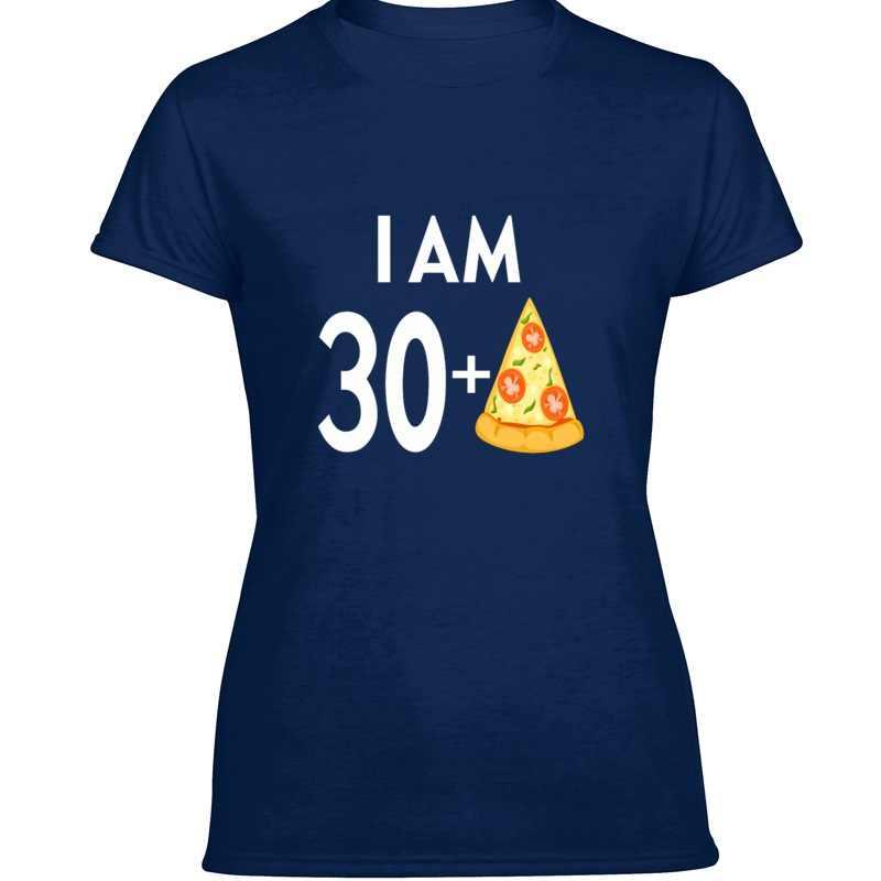 100% Cotone Pazzo Io sono 30 Più Pizza Tshirt Per Uomo Stampa Rotonda Collare Lettere Harajuku Abbigliamento Uomo T Camicette 2019