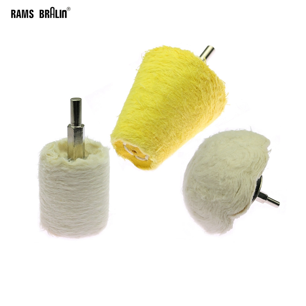 1 Piece Drill Cotton Polishing Buffing Mop Wheel For Jewelry Wood Glass Metal Fine Mirror Polishing