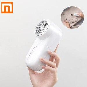 Image 1 - Orijinal Xiaomi Mijia taşınabilir pamuk tiftiği temizleyici saç top düzeltici kazak sökücü 5 yaprak kesici kafa Mini Motor giyotin