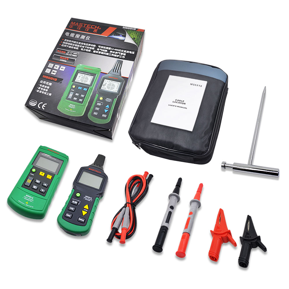 Image 5 - Mastech MS6818 LAN Network Cable Tester Phone Telephone Wire Tracker Pipe Locator Detector for Cat5 Cat5E Cat6 Cat6E RJ45 RJ11Networking Tools   -