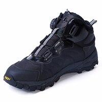 통풍 남성 신발 육군 발목 부츠 안전 전술 군사 전투 부츠 야외 빠른 반응 부츠 보아 레이싱 시스템